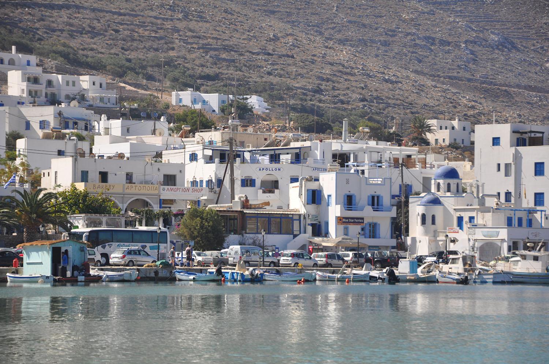 Apollon Studios in the port of Aegiali
